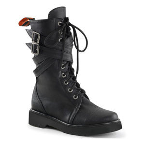 NWOT Demonia Rival Criss Cross Buckle Strap Boots